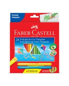 Faber-Castell Lápices de Colores Triangulares - 24 colores