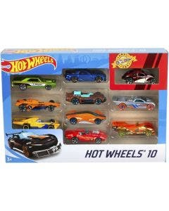 Hot Wheels Pack de 10 Autos Básicos 54886