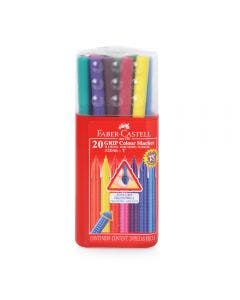 Faber-Castell Marcadores Grip - 20 Colores