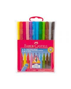 Faber-Castell Marcadores Grip - 12 Colores