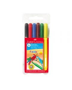 Faber-Castell Marcadores Fiesta - 6 Colores