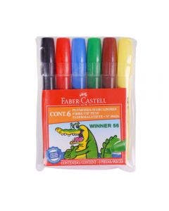 Faber-Castell Marcadores Winner 56 - 6 Colores