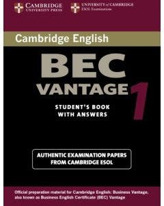 Cambridge Bec Vantage 1 Practice Tests From The University Of Cambridge Local Examinations Syndicate With Keys