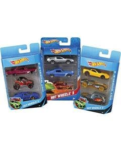 Hot Wheels Pack de 3 Autos