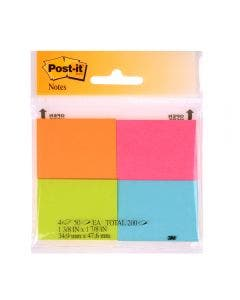 Notas Post-it Tamaño Chico de Colores