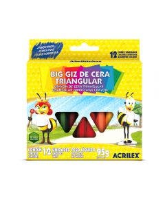 Crayola Triangular Acrilex 12 Colores
