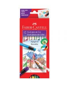 Faber-Castell Lápices Borrables 12 Colores 121212GB