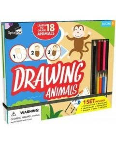 Set Drawing Animals Spice Box