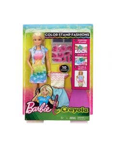 Barbie Muñeca Crayola Color Stamp
