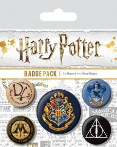 Pack de 5 Pines de Harry Potter (Hogwarts)