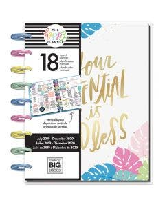 The Happy Planner 2019-2020 Pastel Tropics Mediana