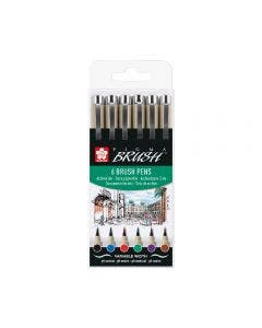 Pigma Micron Brush Set x6