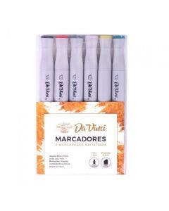 Marcador Da Vinci pack x 6 colores brillantes