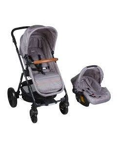Coche Duo Cloud Sp68 Gris Claro