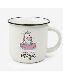 Taza Born To Be Magic Unicornio