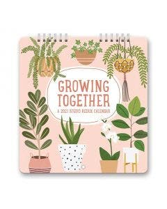 Calendario 12 Meses Chico De Pared Gorwing Together 2021