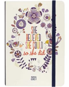 Agenda chica semanal 16 meses 2021 She Believed She Could