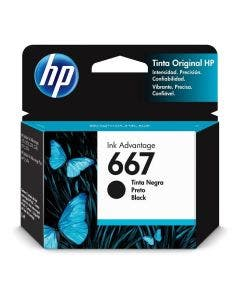 Cartucho Tinta HP (667) BLK 2375/2775 Color Negro