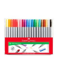 Faber-Castell Marcadores Grip Finepen - 20 Colores