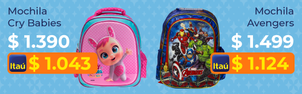 Mochilas Cry Babies y Avengers